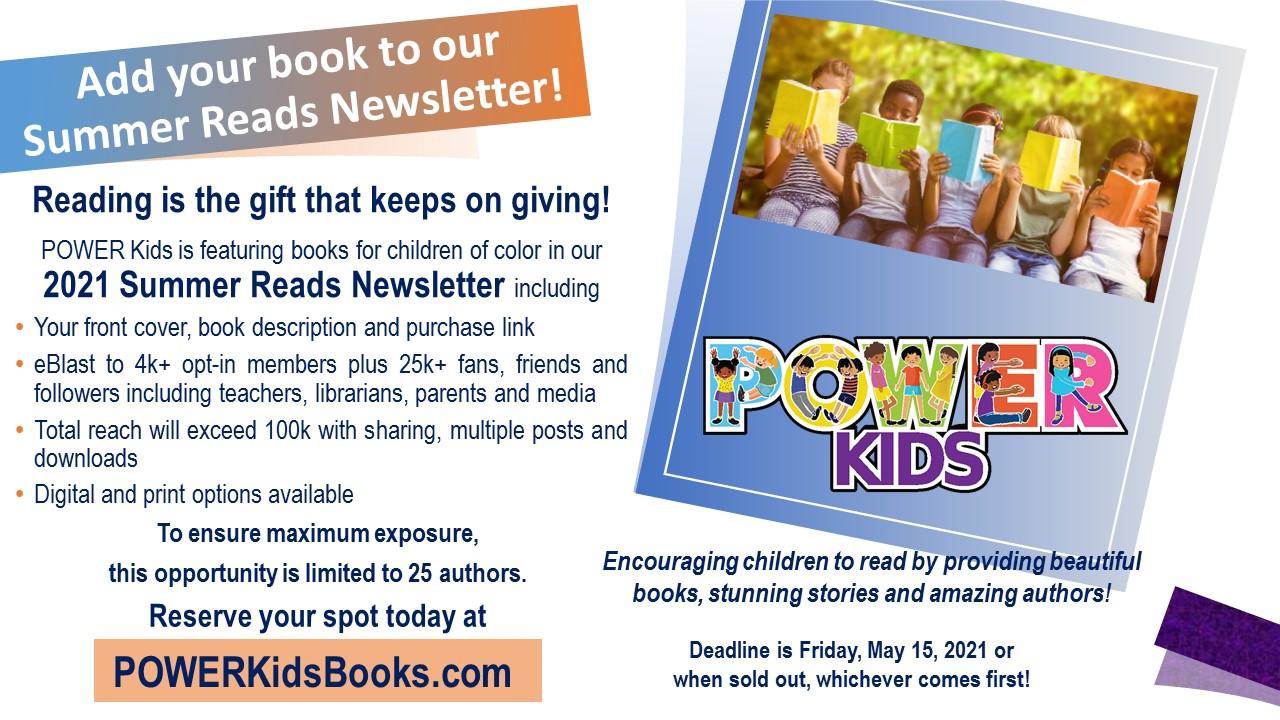 POWER Kids Summer Reads Newsletter flyer