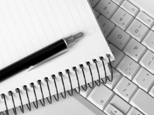 Capture your ideas using a notebook, pen or laptop